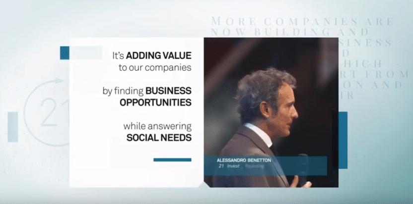 Alessandro Benetton: 21 Invest e Shared Value per il successo delle aziende